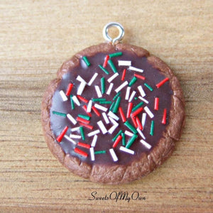 Chocolate Biscuit with Christmas Sprinkles Charm - SweetsOfMyOwn