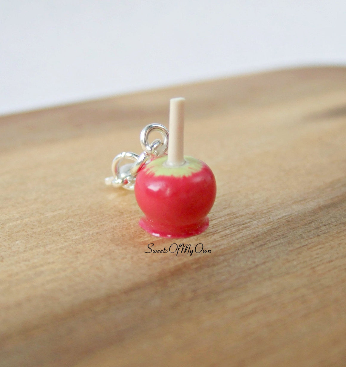 Red Toffee Apple Charm - SweetsOfMyOwn