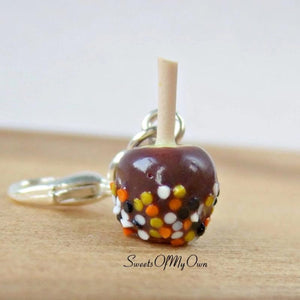 Chocolate Apple with Halloween Confetti Charm - SweetsOfMyOwn