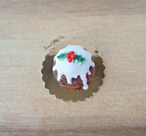 Miniature Christmas Pudding 1:12 Scale - SweetsOfMyOwn