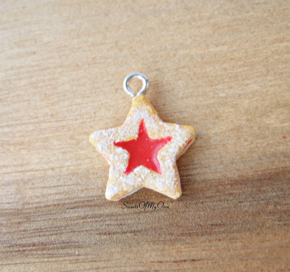 Star Jam Biscuit Charm (small) - SweetsOfMyOwn