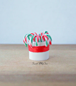 Miniature Candy Cane Display 1:12 Scale - SweetsOfMyOwn