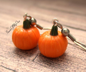 Pumpkin Dangle Earrings - MTO