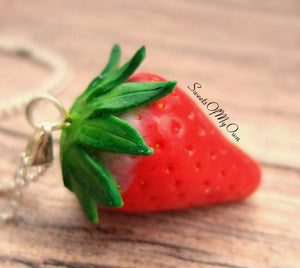 Strawberry Charm - Necklace/Charm/Keychain - MTO
