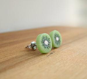Kiwi Slice - Stud Earrings