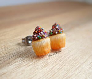 Chocolate Cupcakes - Stud Earrings