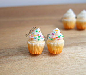 Vanilla Cupcakes - Stud Earrings