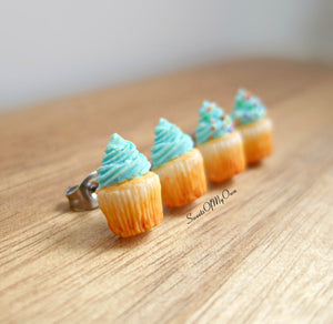 Turquoise Cupcakes - Stud Earrings