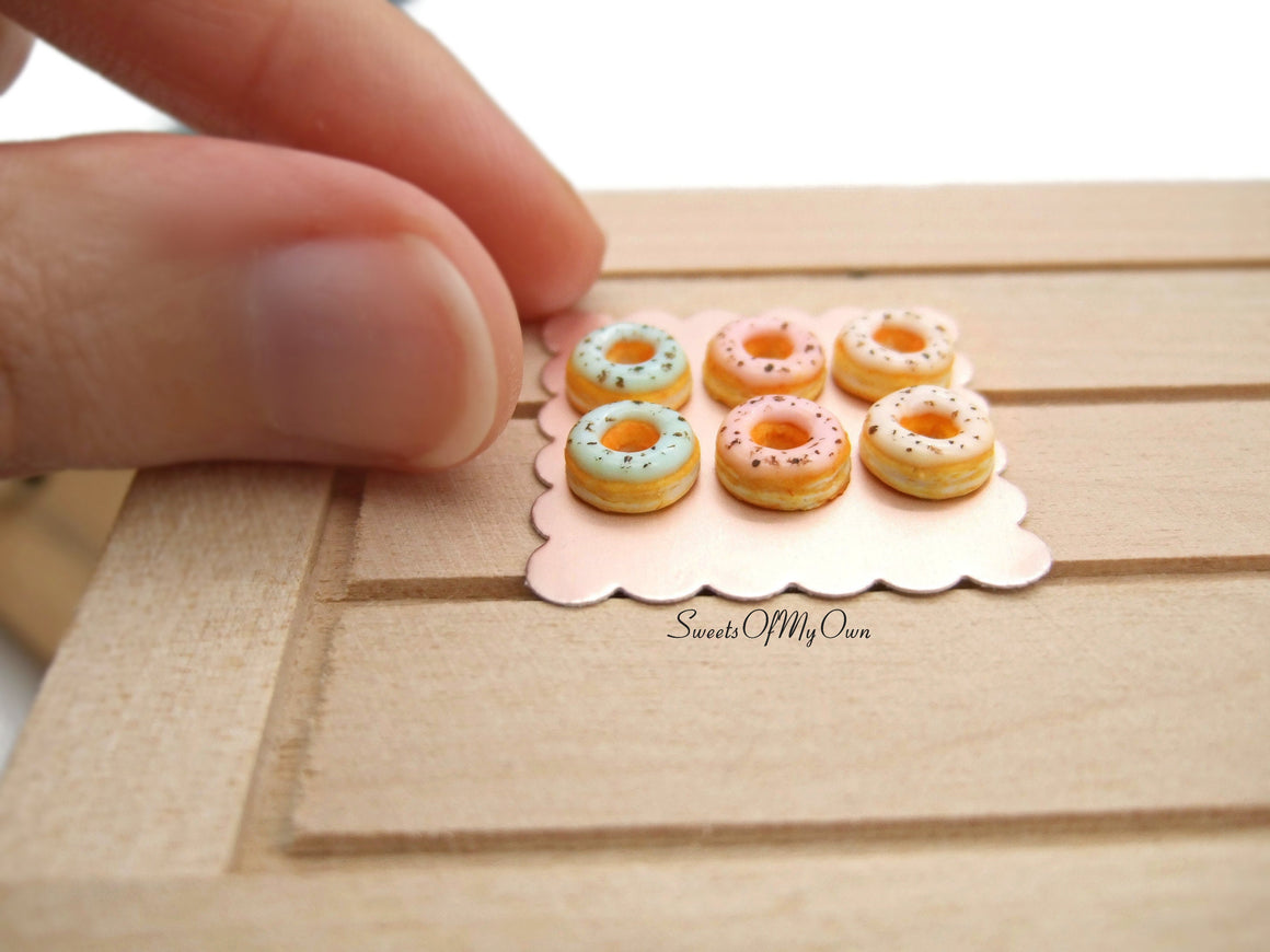 Miniature Doughnuts Mini Egg Theme - Doll House 1:12 Scale