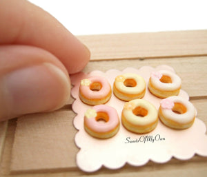 Miniature Doughnuts Spring Flower Theme - 1:12 Scale