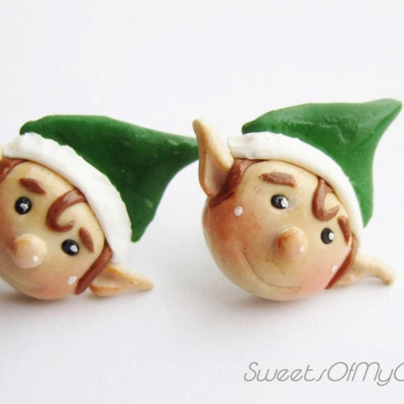 Christmas Elf - Stud Earrings - SweetsOfMyOwn