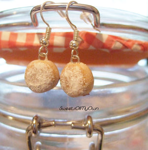 Sugar Coated Jam Donut - Dangle Earrings - MTO