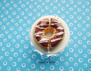 Chocolate Donut Halves BFF Charms - Necklace/Charm/Keychain - MTO