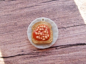 Beans on Toast Charm - Necklace/Charm/Keychain - MTO