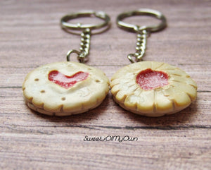 Jam Biscuit Cookie Jammy Dodger Charm - SweetsOfMyOwn