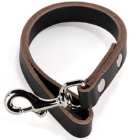 Traffic Lead - Heavy Duty Short Leather Leash