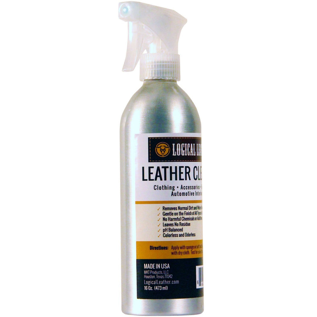 Leather Cleaner Spray - pH Balanced, Non-Toxic Gentle - 16 oz.