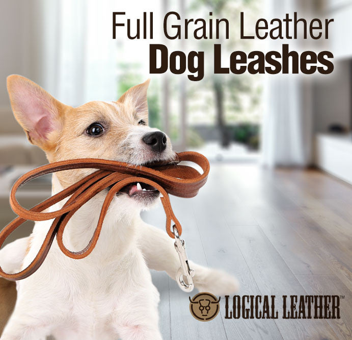 Full Grain Leather Dog Leashes