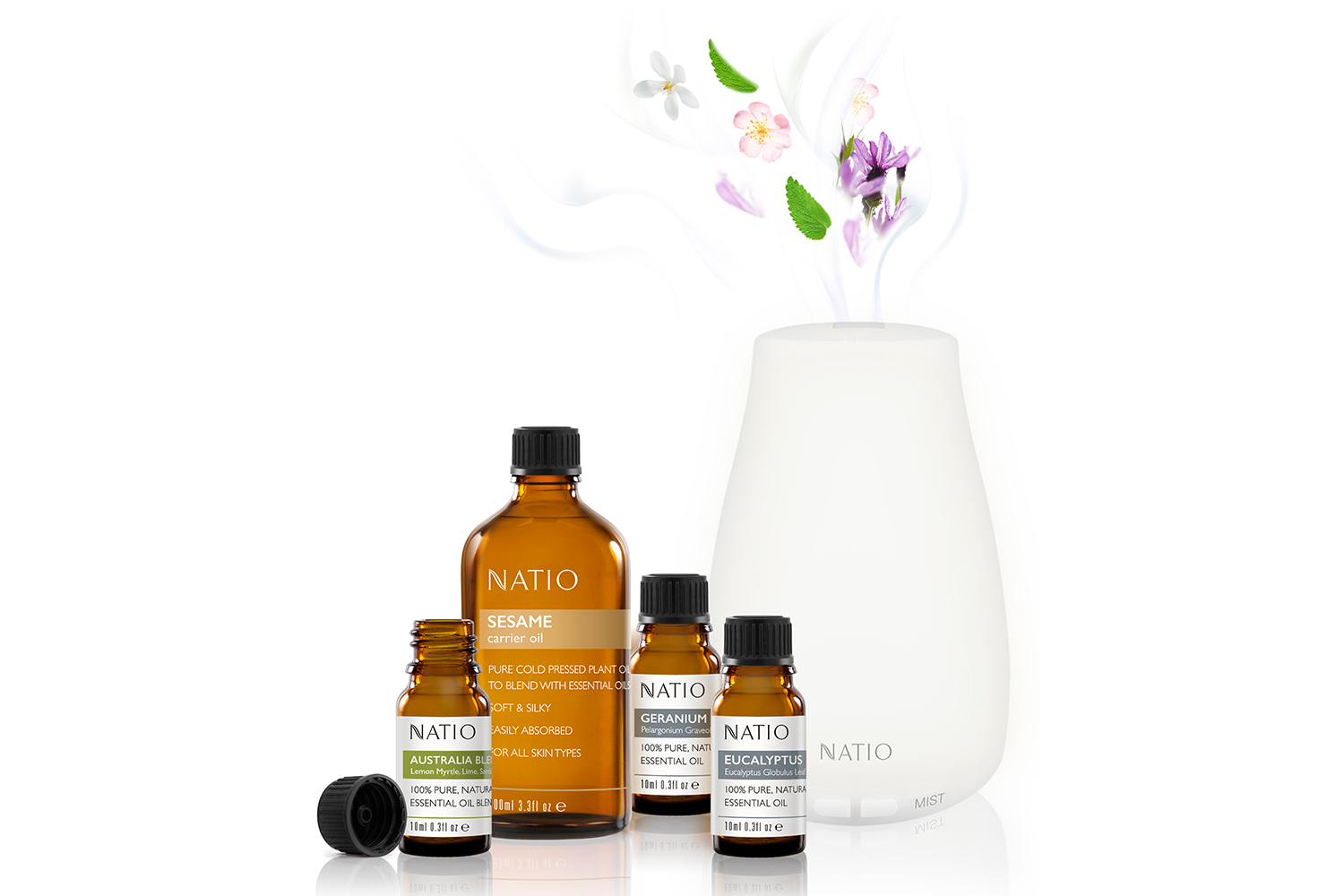 Natio's home happiness - 100% Pure, Natural Essential Oils