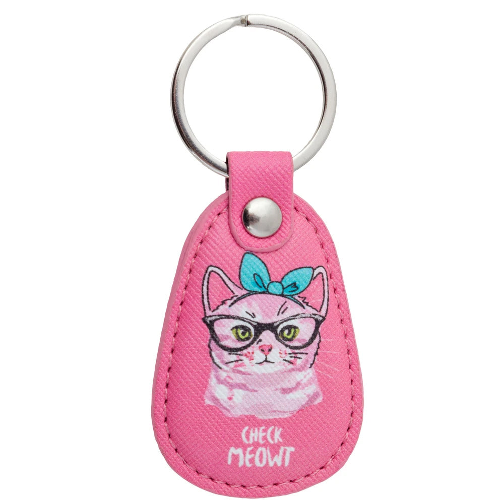 RETRO KEY CHAIN CAT, key chain, [Ziya Blue]