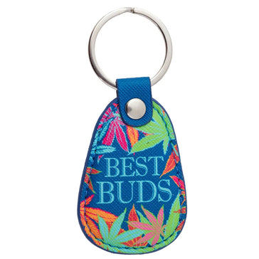 RETRO KEY CHAIN WEED, key chain, [Ziya Blue]