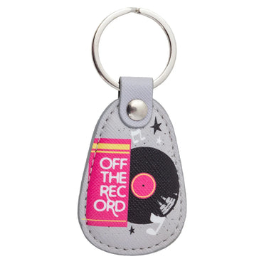 RETRO KEY CHAIN RECORD, key chain, [Ziya Blue]