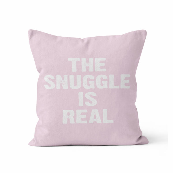 Pillow Cover, The Snuggle Is Real, CUSTOM COLOR, by Kalilaine - Kalilaine Creations