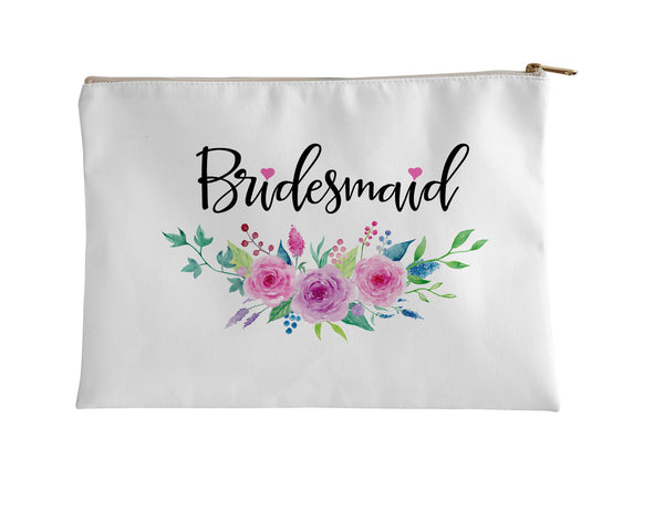 Accessory Pouch, Bridesmaid Foral by Kalilaine - Kalilaine Creations