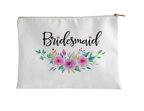 Accessory Pouch, Bridesmaid Foral by Ziya Blue