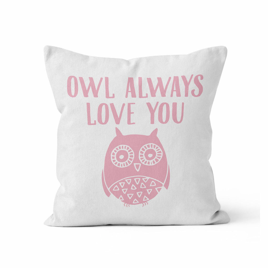 Nursery Throw Pillow, Baby Owl by Ziya Blue
