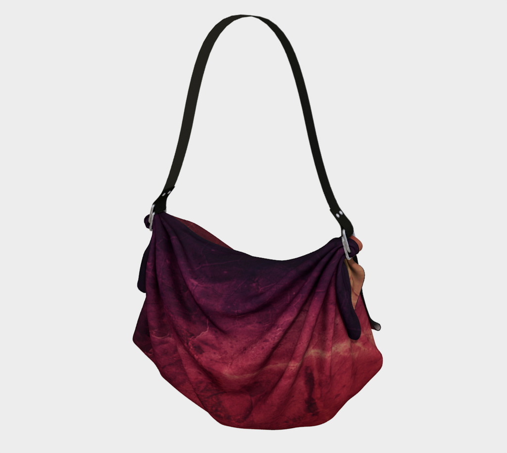 Purple Red Abstract Origami Tote, MADE TO ORDER, Origami Tote, [Ziya Blue]