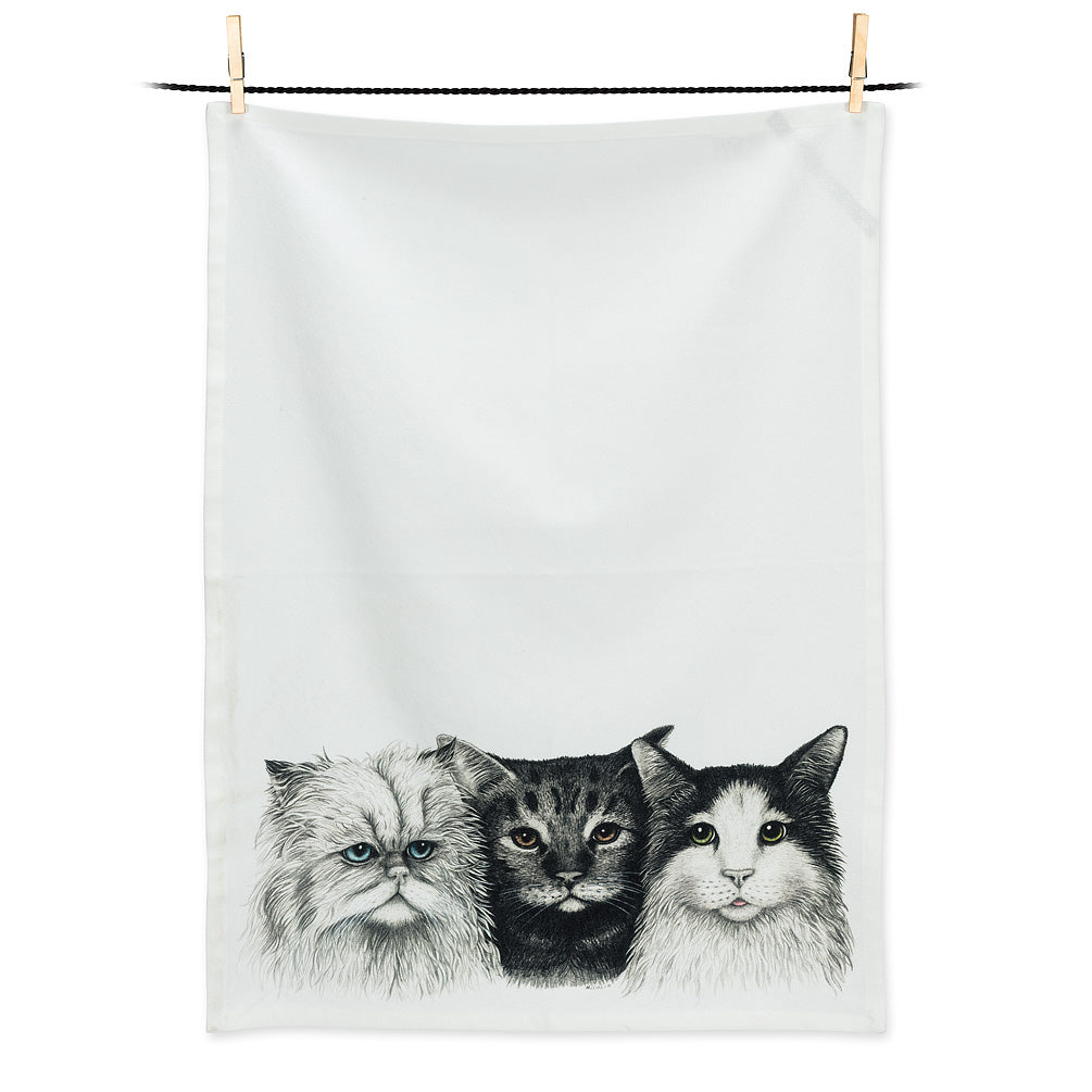 3 Cats Tea Towel