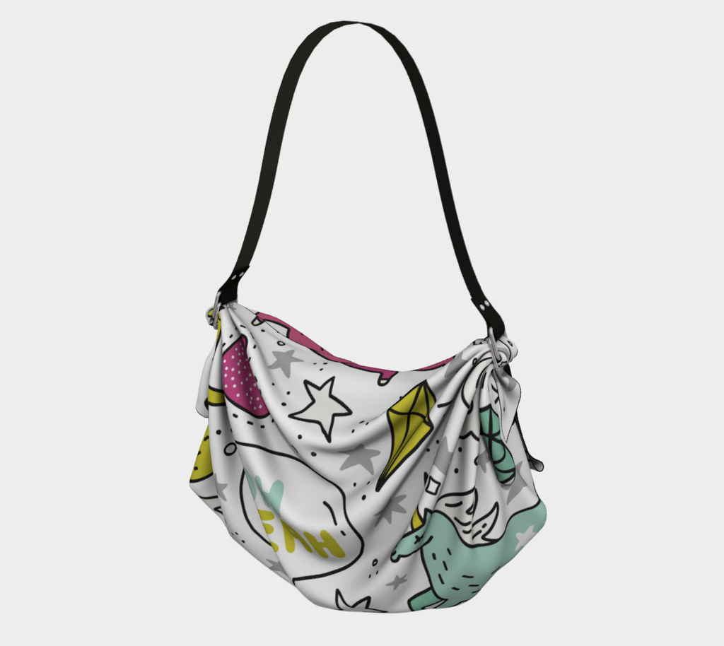 Oh Yeah  Unicorn, Origami Tote, MADE TO ORDER, Origami Tote, [Ziya Blue]