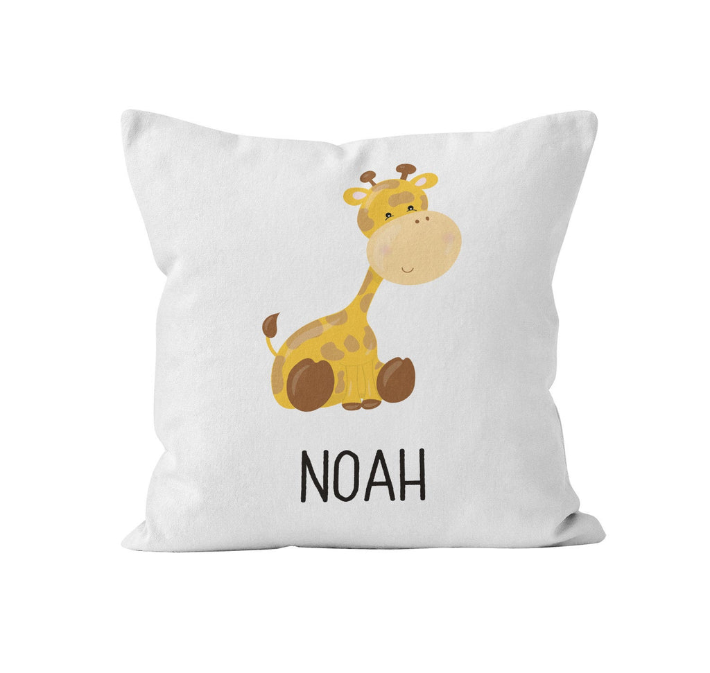 Throw Pillow Cover, Personalized, Baby Giraffe, MADE TO ORDER, Pillow, [Ziya Blue]