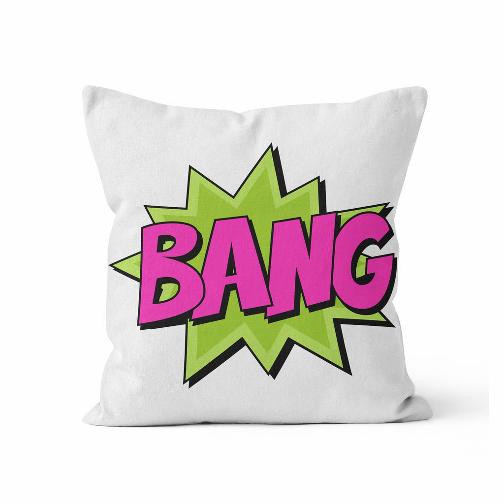 Throw Pillow Cover, Comic Book, BANG, Nursery Pillow, [Ziya Blue]