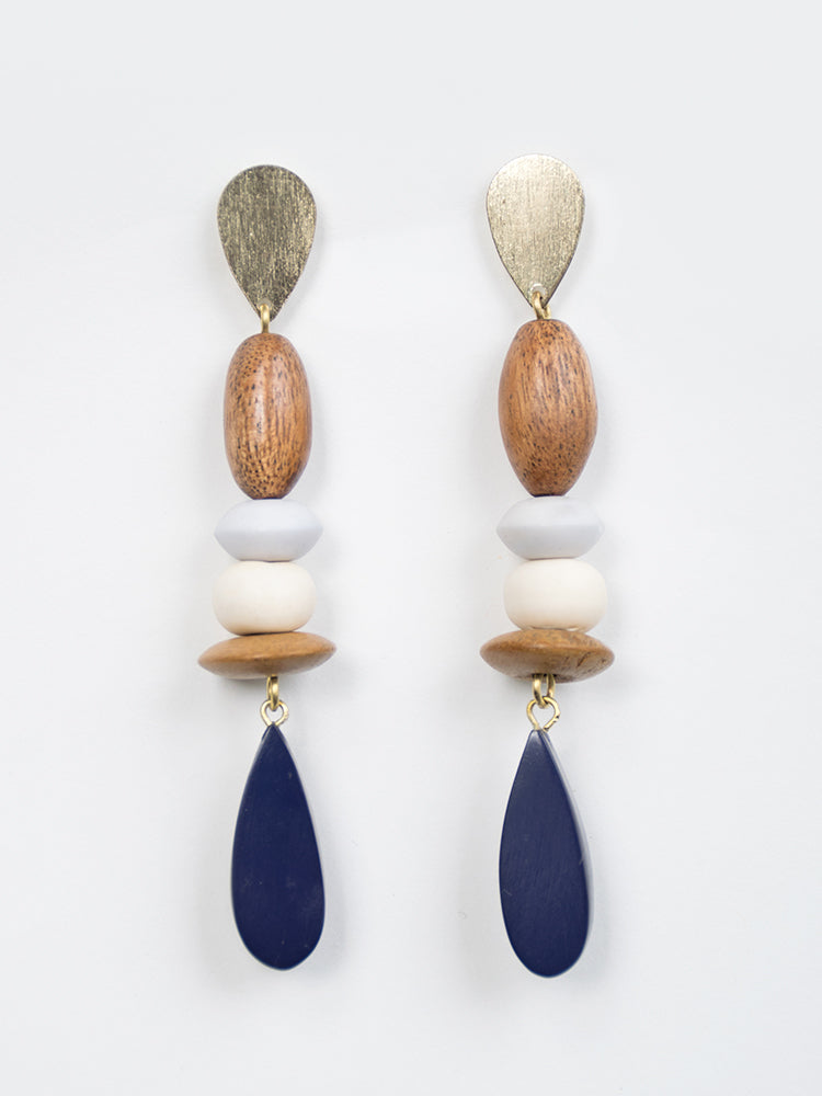 Kolkata Earrings Blue
