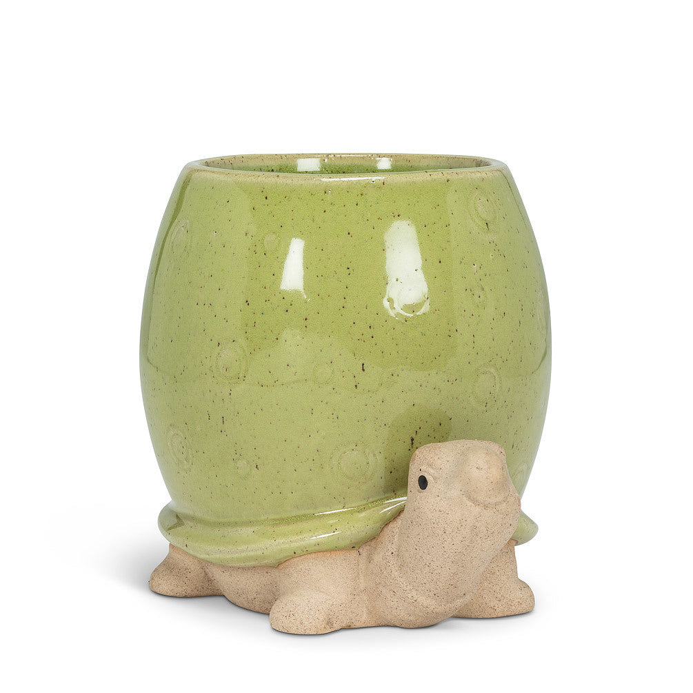 "Tall Green Turtle Planter - 5""H"