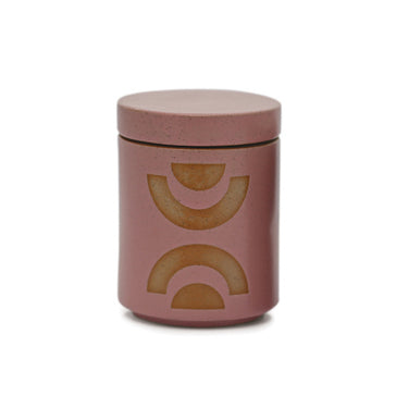 12oz Mauve Pink Glazed Ceramic With Lid - Mandarin Mango