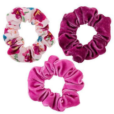 Velvet Scrunchie Set - BERRY