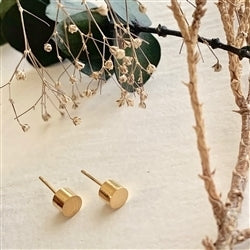 Cylin Minimalistic Stud Earrings In Gold