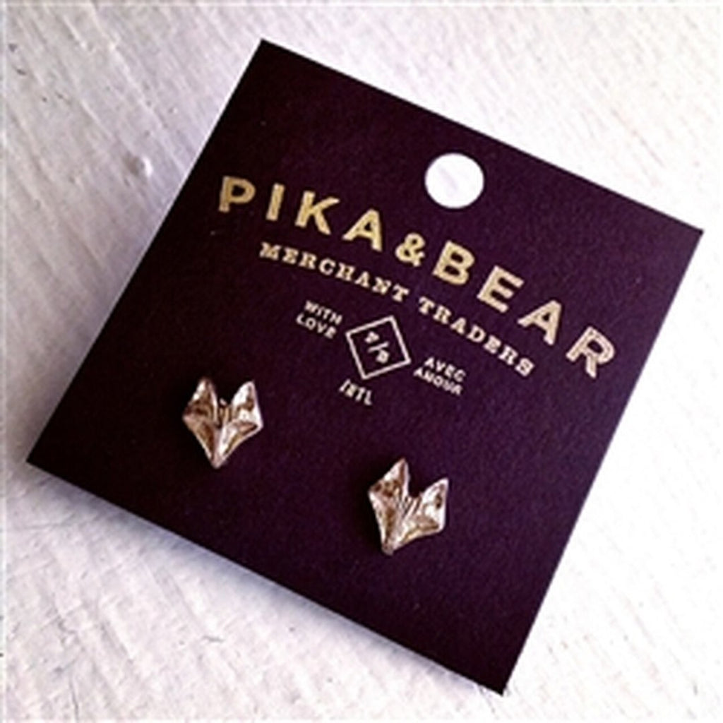 Sly Fox Gold Stud Earrings