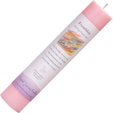 Herbal Pillar Candle 7'H - Friendship