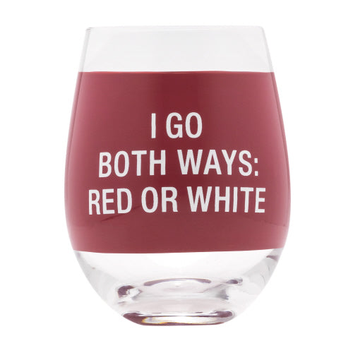 Both Ways Wine Glass