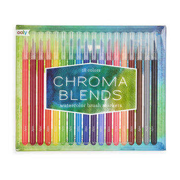 Chroma Blends Watercolor Brush Markers - Set of 18