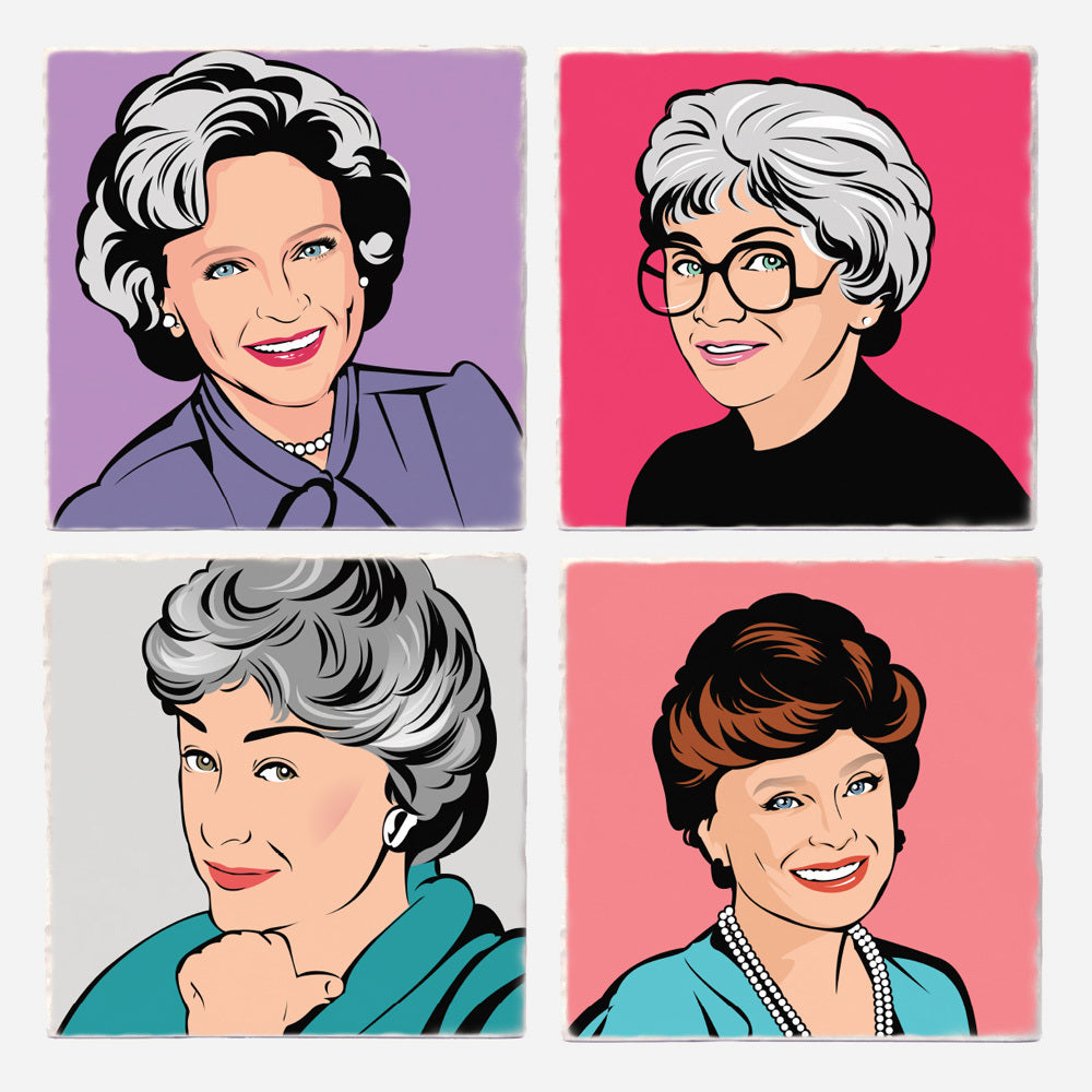 Golden Girls Coasters - Set of 4