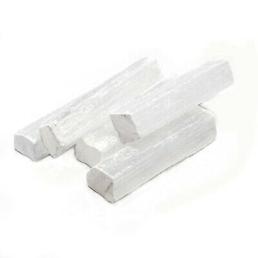White Selenite - Raw Rectangles 4""