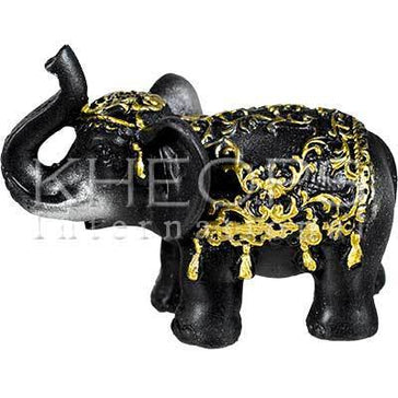 Polyresin Elephant - Strength & Power Black 3.25""