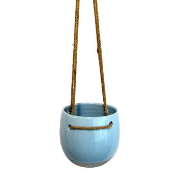 Hanging Pot Blue Ceramic