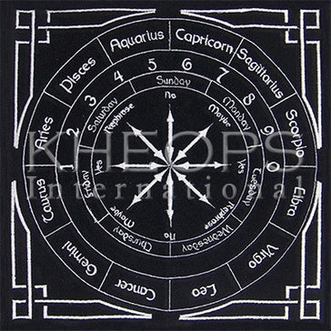 "Pendulum Velvet Mat Black Astrology 12""x12"""
