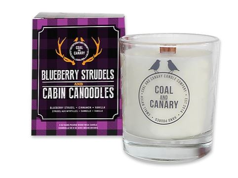 Blueberry Strudels and Cabin Canoodles Candle